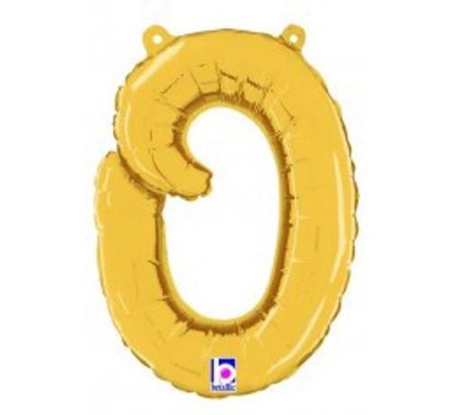 "14"" Script Letter Foil Balloon - o"