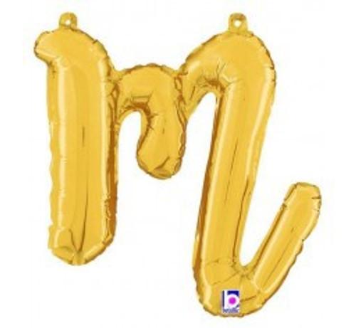 """14"""" Script Letter Foil Balloon - m"""