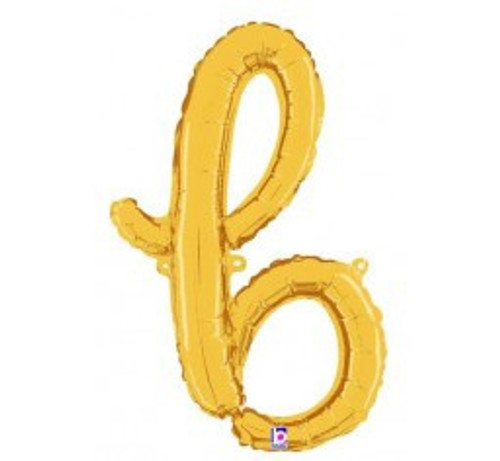 "24"" Script Letter Foil Balloon - b"