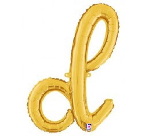 """24"""" Script Letter Foil Balloon - d"""