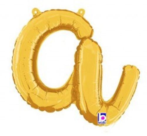 """14"""" Script Letter Foil Balloon - a"""