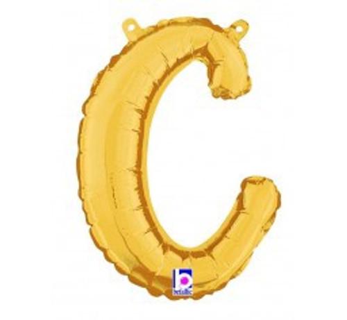 """14"""" Script Letter Foil Balloon - c"""