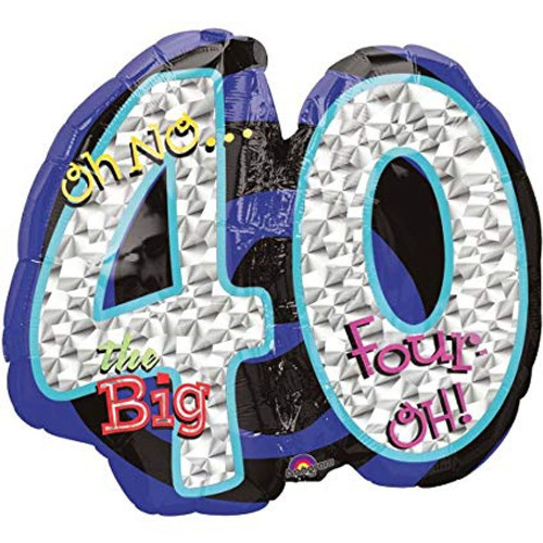 Oh No Its My Birthday 40th Supershape Foil Balloon