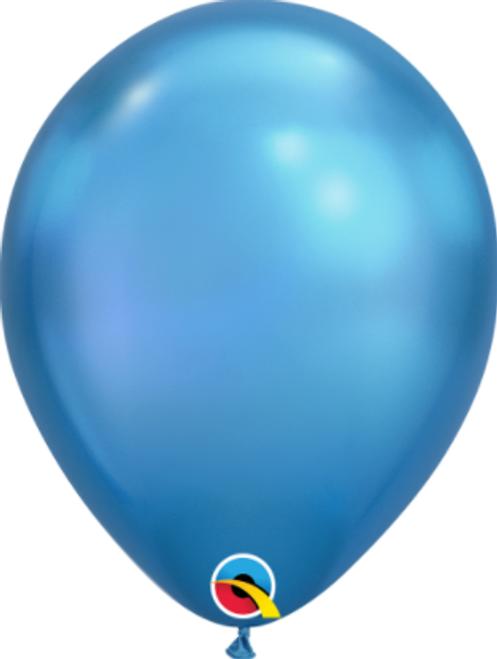 Chrome Blue 18cm Balloons - Pack of 100