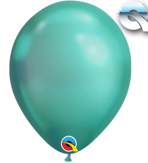 Chrome Green 18cm Balloons - Pack of 100