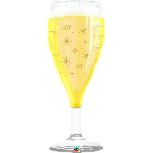 Bubbly Wine Glass Foil Shape Balloon
