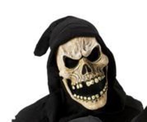 Shrouded Skull Mask Tan