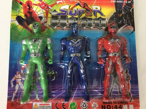 3 Piece Superhero Toys