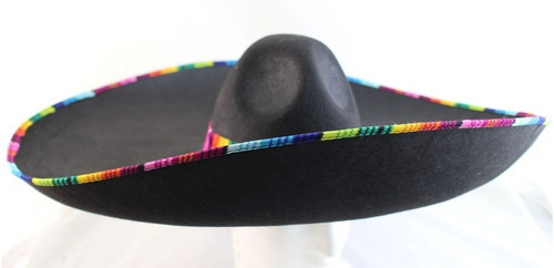 Mexican Sombrero - Black with Striped Band