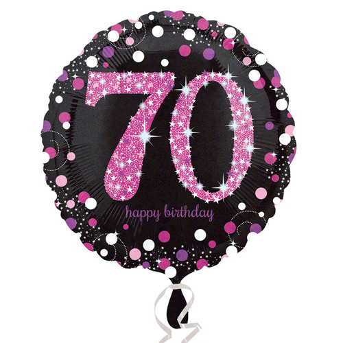 Pink Celebration 70 Holographic Foil Balloon