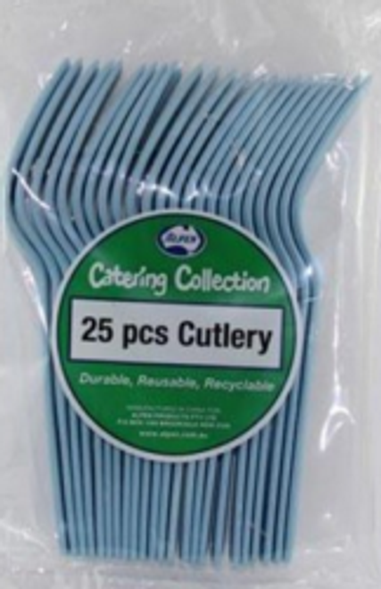 Forks 25 pack Light Blue