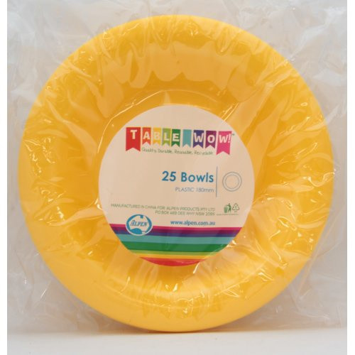 Bowls - Yellow - Pack of 25