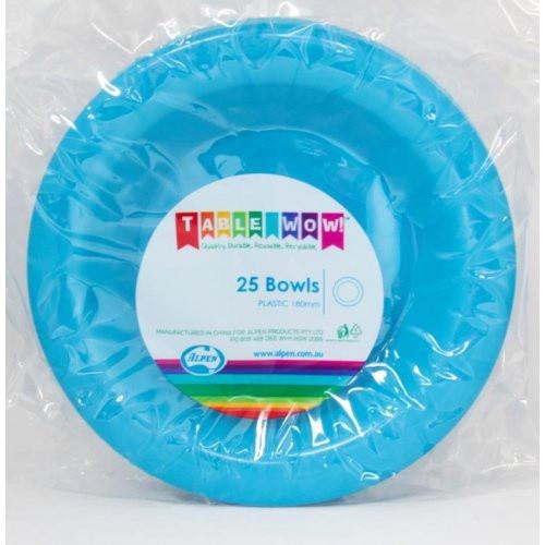 Plastic Bowls - Azure Blue