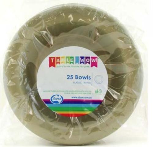 Plastic Bowls - Gold