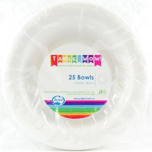 Plastic Bowls - White