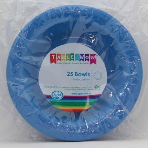 Plastic Bowls - Royal Blue