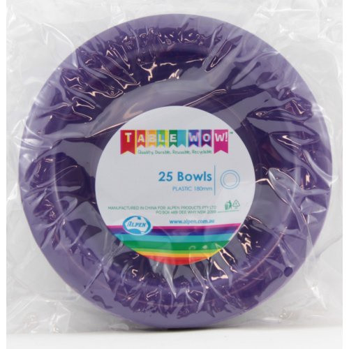 Plastic Bowls - Purple