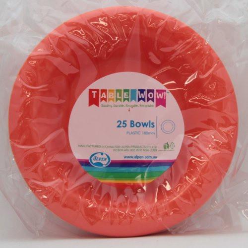 Plastic Bowls - Orange