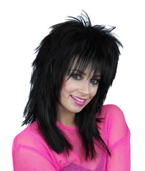 80's Shaggy Black Sheena Wig