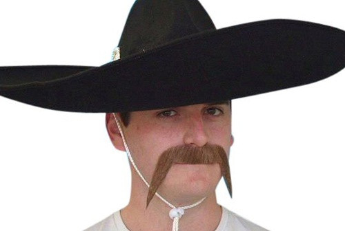Brown Mexican Moustache