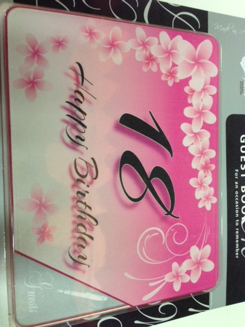 18th Birthday Pink Keepsake Book