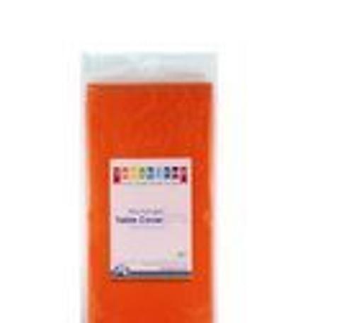 Plastic Table Cover - Orange