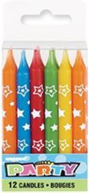 12 Star Print Candles