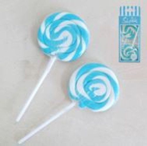 22g Swirl Lollipops Blue