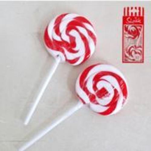 22g Swirl Lollipops Red