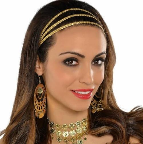 Braided Gold Headband