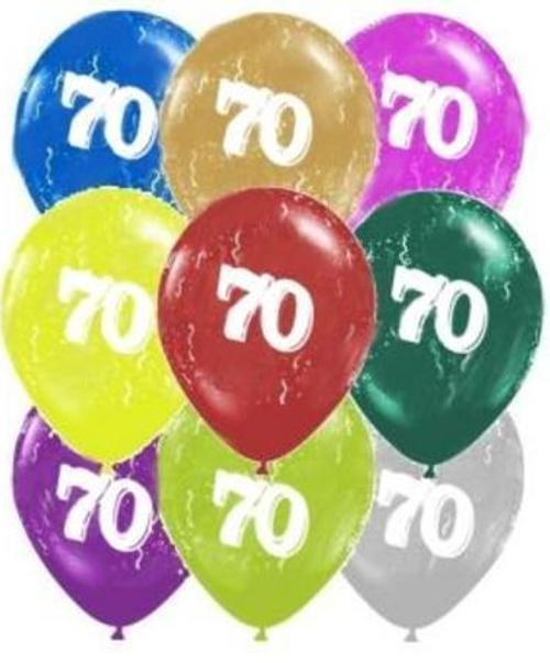 70 Around Pearl Latex 11inch Printed Balloon