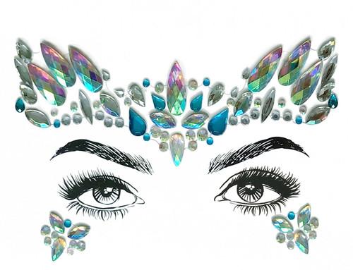 Diamond Daze Face Jewels - Mermaid