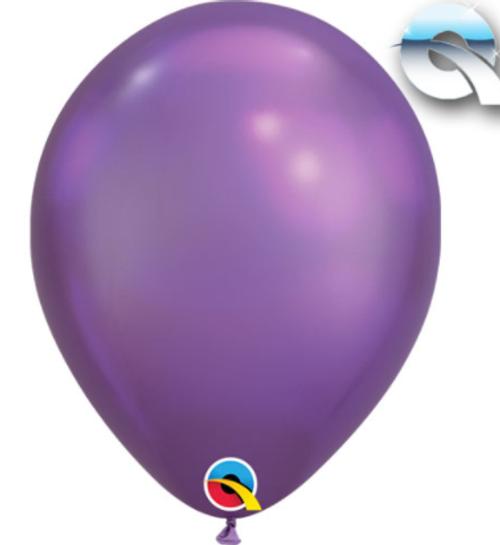 Chrome Purple 18cm Balloons - Pack of 100
