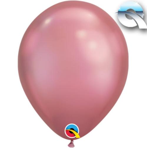 Chrome Mauve 18cm Balloons - Pack of 100