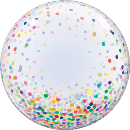 Colourful Confetti Dots Bubble Balloon