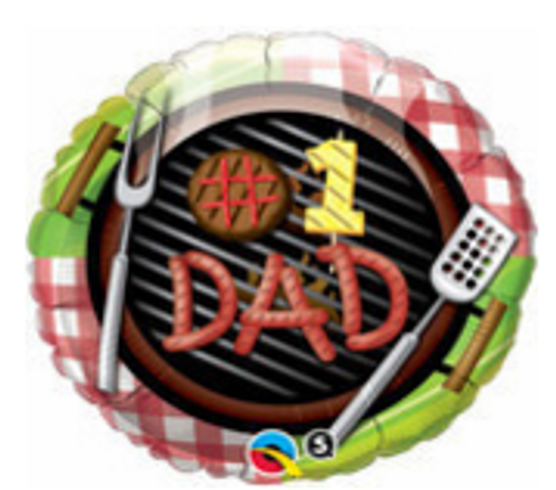 #1 Dad Grill Foil Balloon