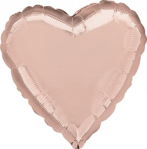 Heart Standard Rose Gold Foil Balloon