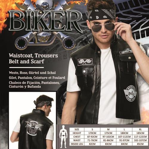 Bad Biker Costume - M