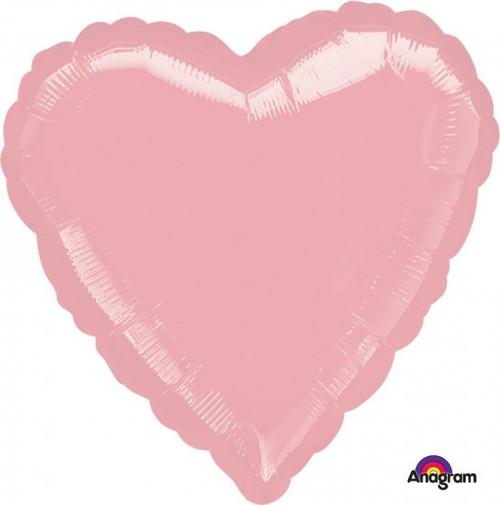 Heart Standard Pastel Pink Foil Balloon