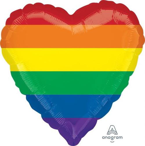 Heart Standard Rainbow Foil Balloon