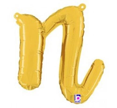 "14"" Script Letter Foil Balloon - n"