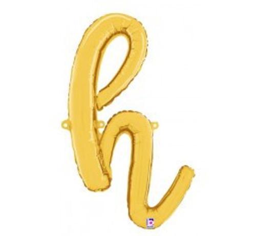 """24"""" Script Letter Foil Balloon - h"""