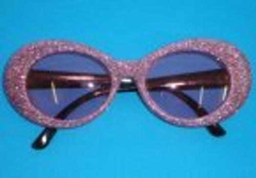 Glasses 1970's Pink Glitter Rims