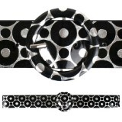 Belt Silver and Black Circles