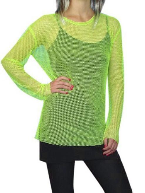 80's Mesh Top - Neon Green