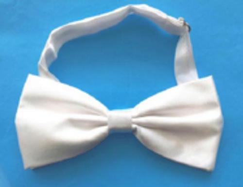 Bow Tie - Satin - White