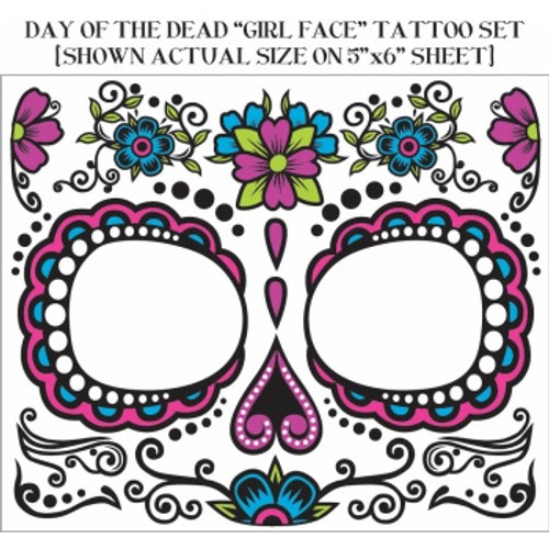 Day of the Dead Face Tattoo - Female