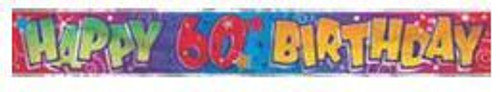 60th Birthday Foil Banner