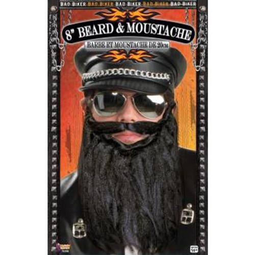 "Bad Biker 8"" Beard and Moustache"