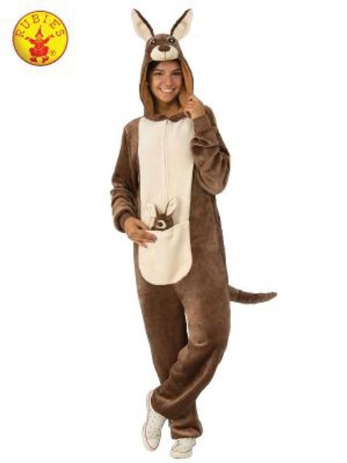 Kangaroo Furry Onesie Costume, Adult - S/M